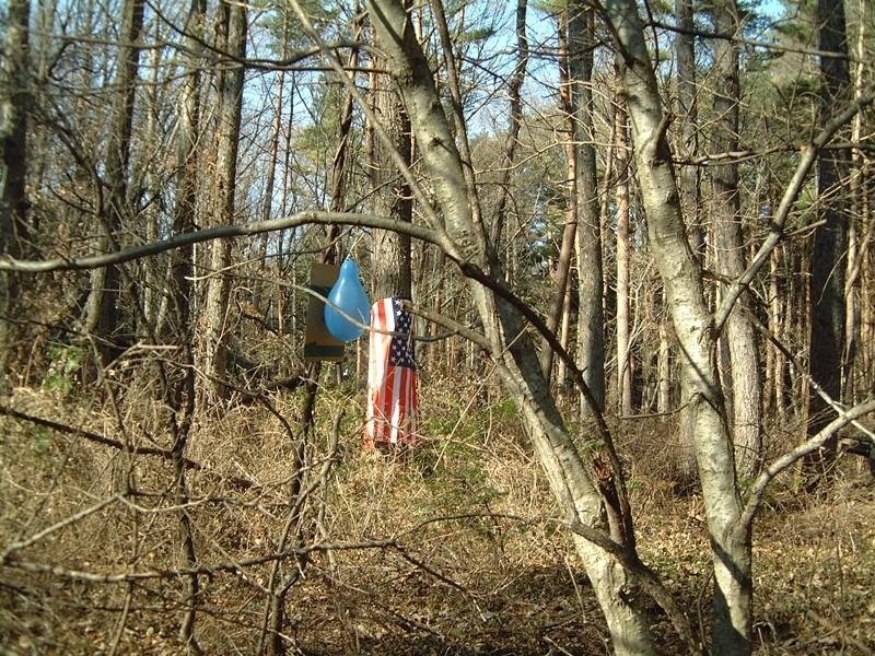 星条旗と風船が目印