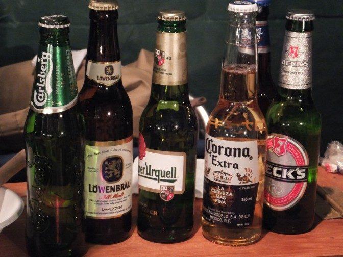 世界のビールを取りそろえた