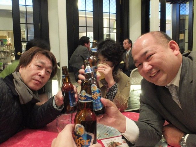 タイガービールで乾杯