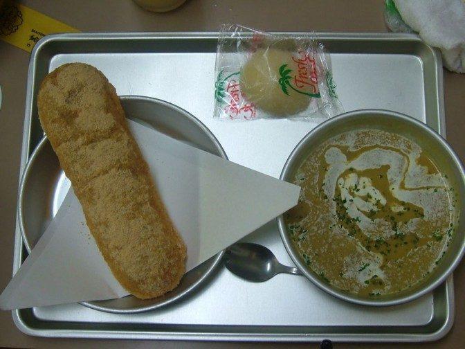 5品目(その1):揚げパンとカレーシチュー