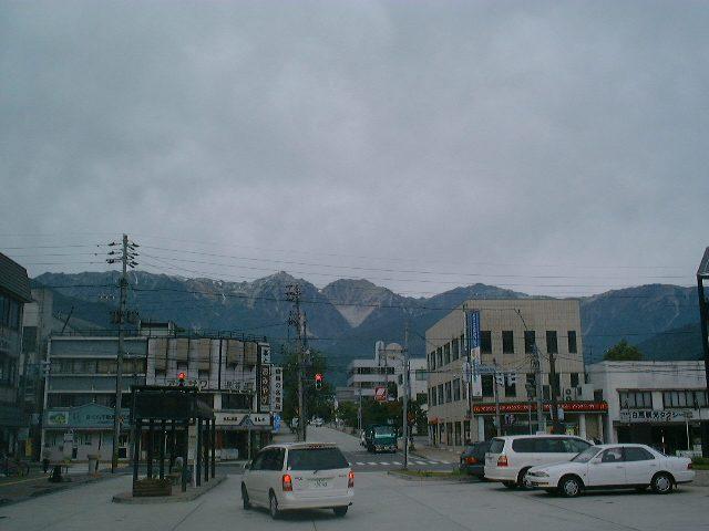 白馬駅からの眺め