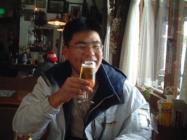 寒いのにビールが欠かせない