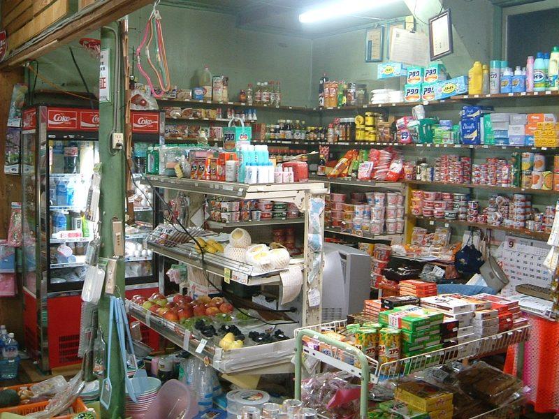鉛温泉の売店
