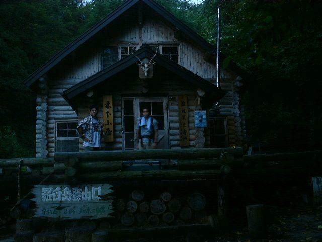夜明け前の木下小屋