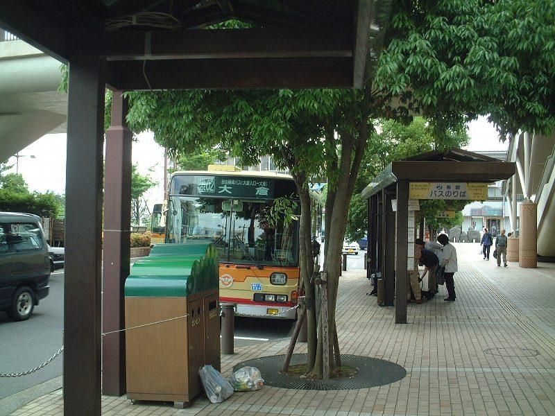 丹沢に向かうバス