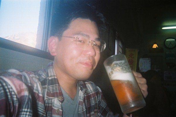 山の上での生ビールは格別