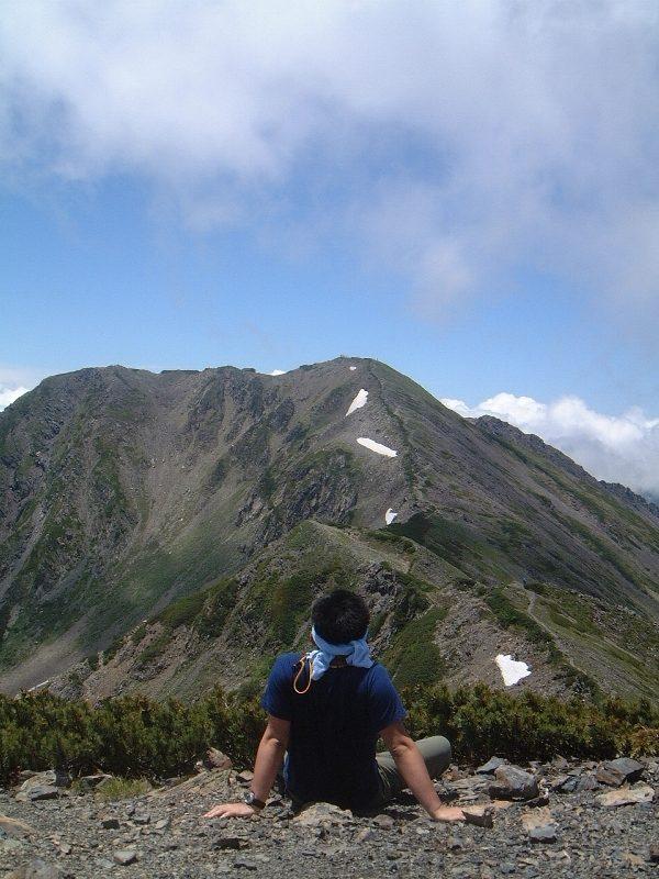 小赤石岳から、赤石岳
