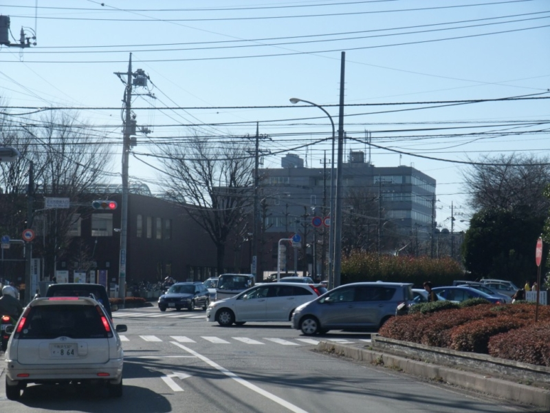和光市役所に向かう道