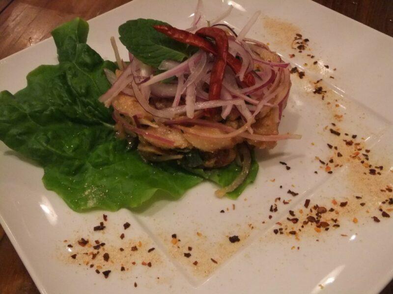 タイ東北式豚肉のグリル ミント和え ナムトックムー