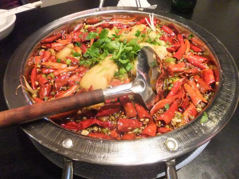 魚の激辛沸騰旨煮