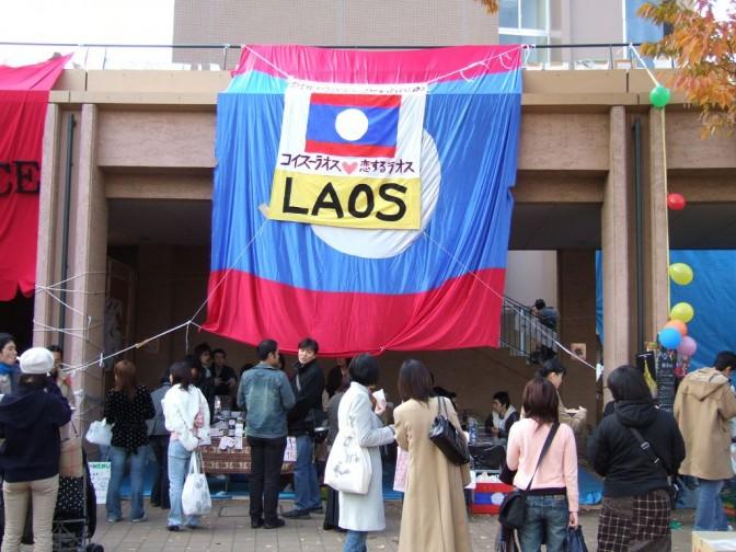 ラオス語学科の屋台