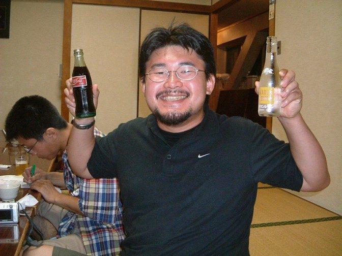 下戸のしぶちょおはソフトドリンク。今時珍しいコーラの瓶