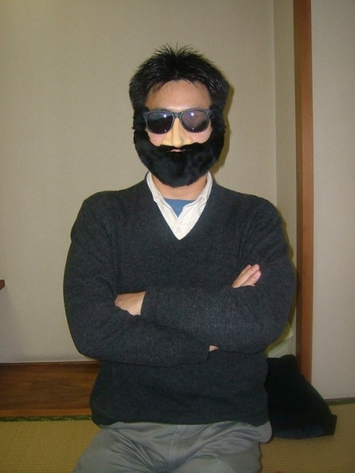 黒ひげ装着例。結構馴染むものだ