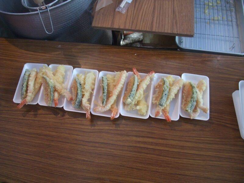 並ぶ天ぷら