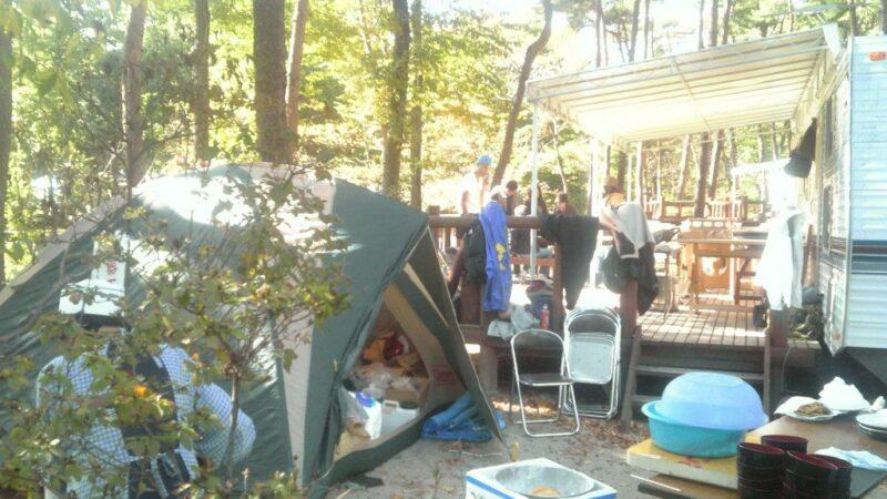 荷物庫としてテント