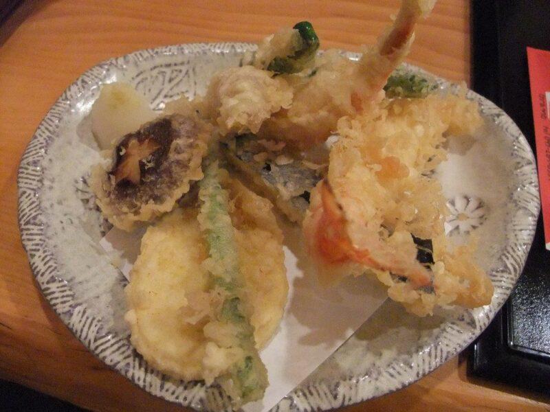 車海老と野菜の天ぷら