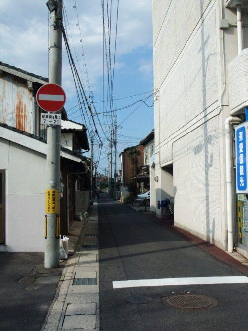この通りに後藤蕎麦がある