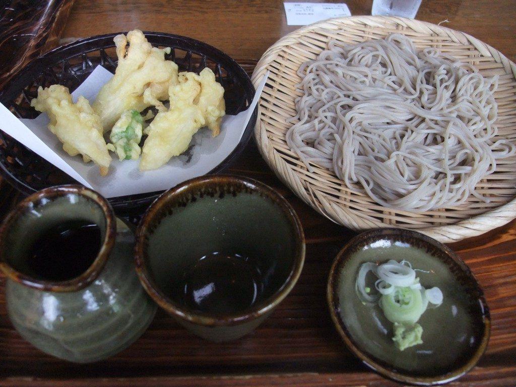 信州白舞茸天ぷらともりそば