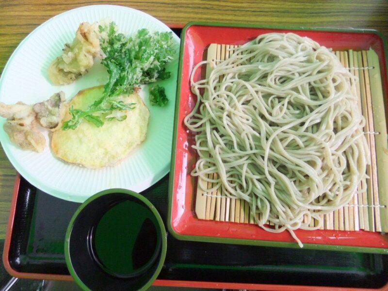 もりそばと野菜天ぷら