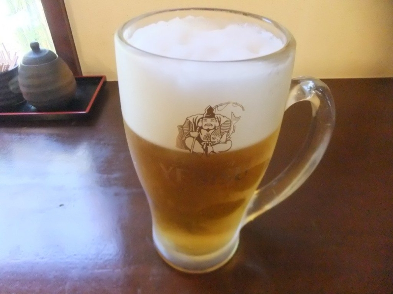 エビスの生ビール