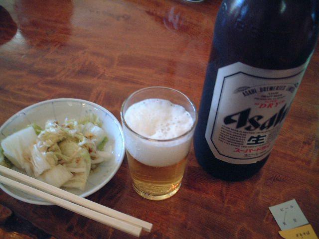 ビールと白菜の浅漬け