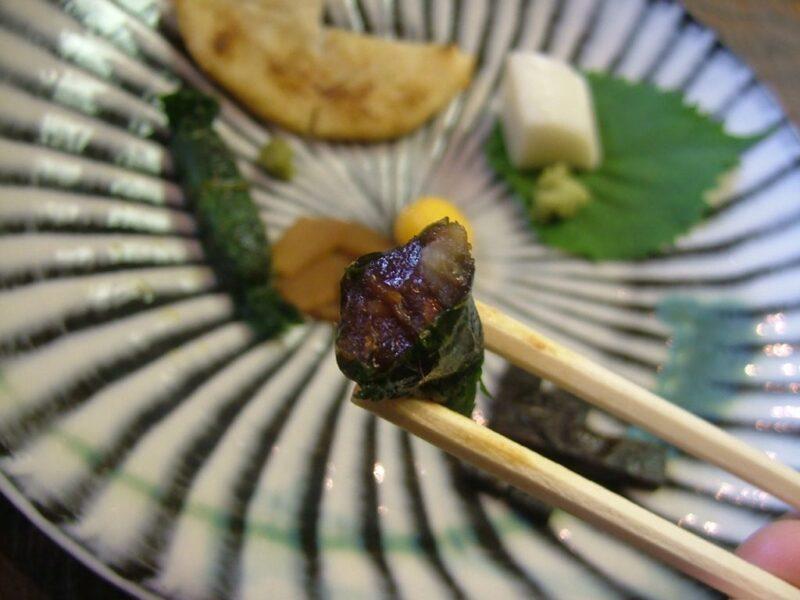 大葉と味噌の味わい