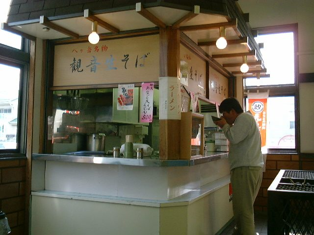 小淵沢駅構内の立ち食い蕎麦