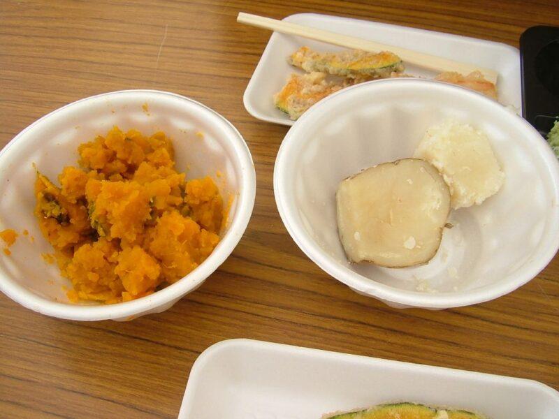 ふかし芋とかぼちゃ