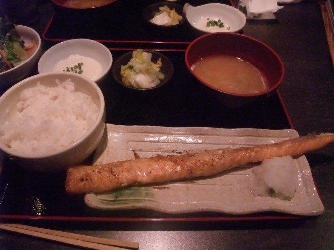 サーモンハラミ定食