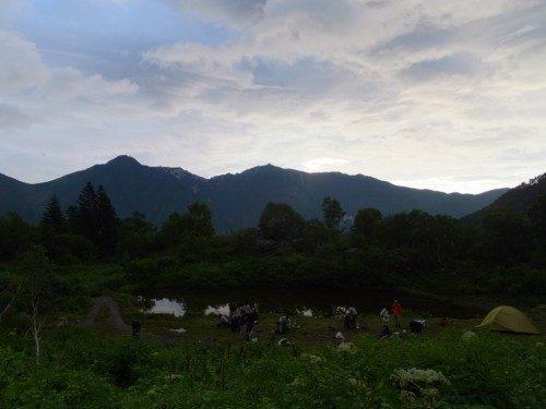鳳凰三山が今日はよく見える
