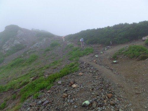 稜線に出た