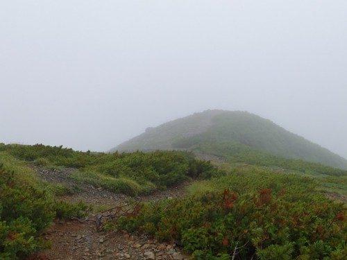 小太郎尾根を北に眺める
