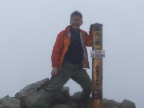 山頂標識の数だけ記念撮影するって馬鹿馬鹿しいけど