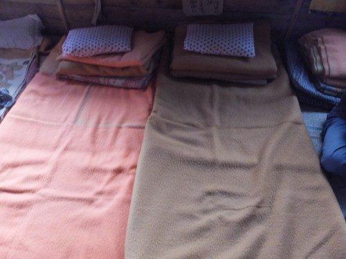 毛布で自分の陣地を作る