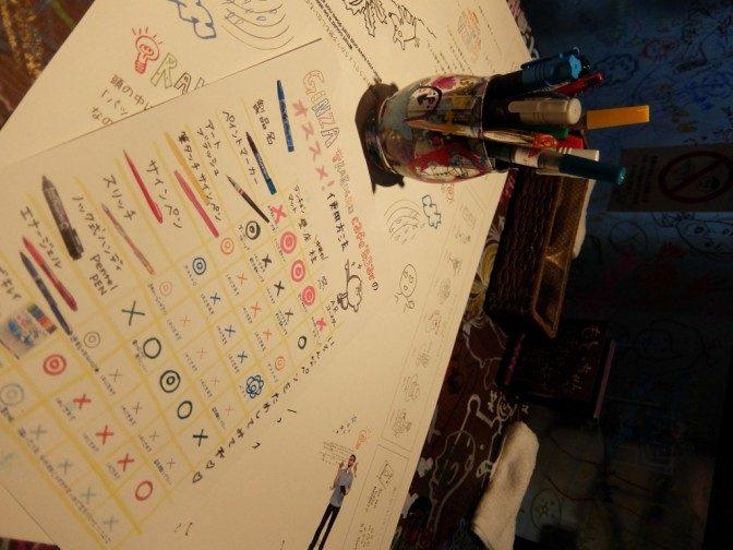○×でペンと落書きの相性が