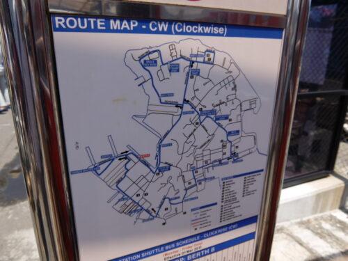 バスのルート図