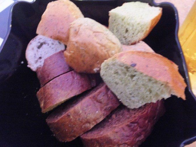 パンが添えられた