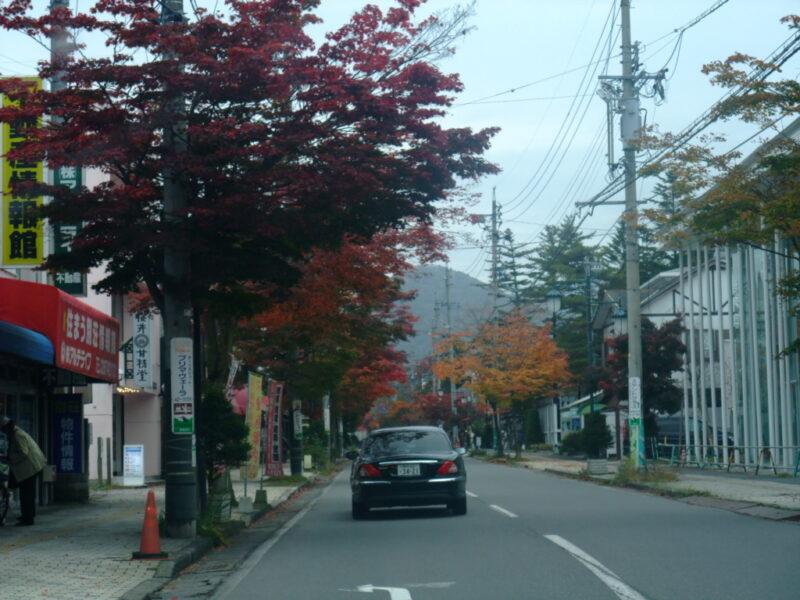 紅葉を見ながらドライブ