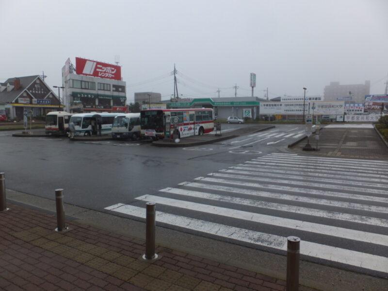 那須塩原駅の駅前はがらんとしている
