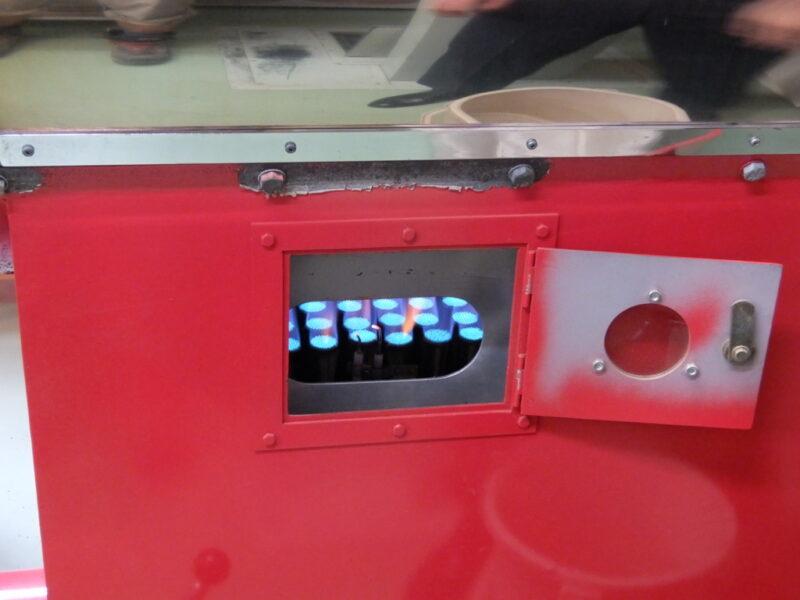 ガス式の焙煎機
