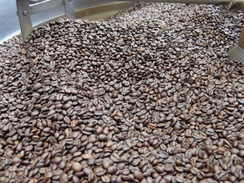 大量に出来上がった豆