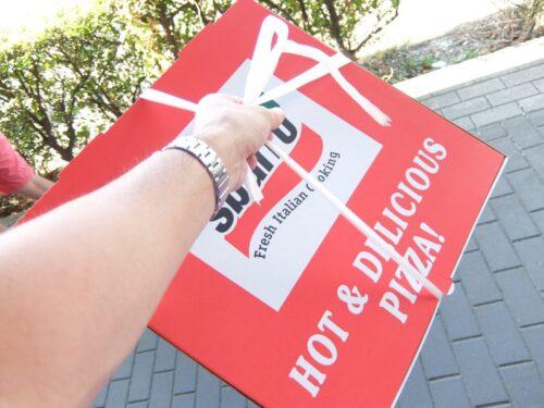 スバーロのピザお持ち帰り