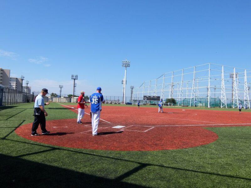 野球の試合中