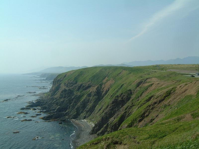 襟裳岬の絶壁
