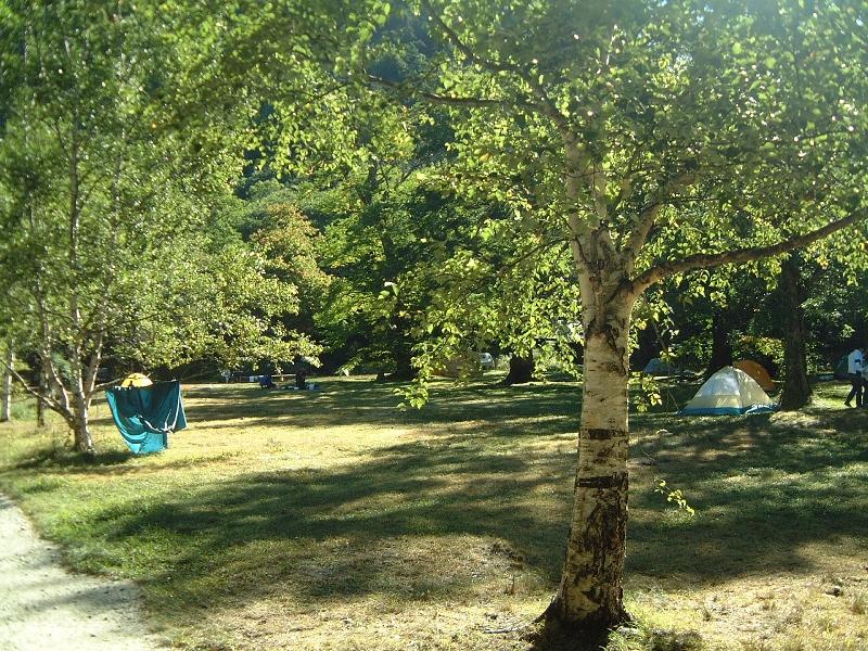 徳沢のキャンプ場