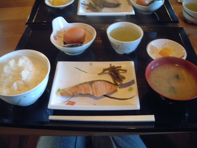 雲鳥山荘の朝食