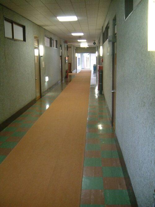 古さがある廊下