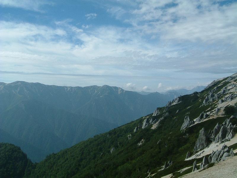 山小屋からの眺め1