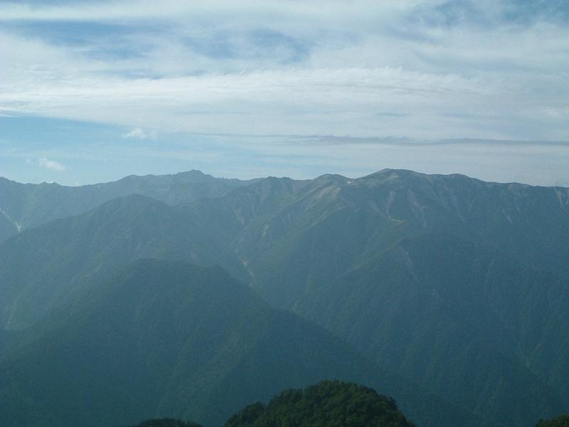 山小屋からの眺め2
