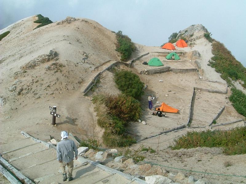 燕山荘のテン場